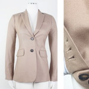 J. Crew Cashmere Hacking Collection Camel Blazer 0